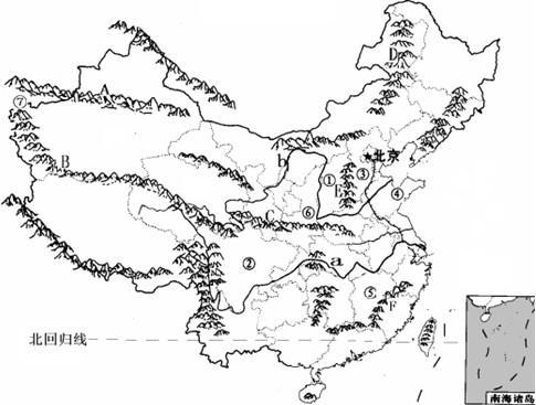 中国的地势与地形习题